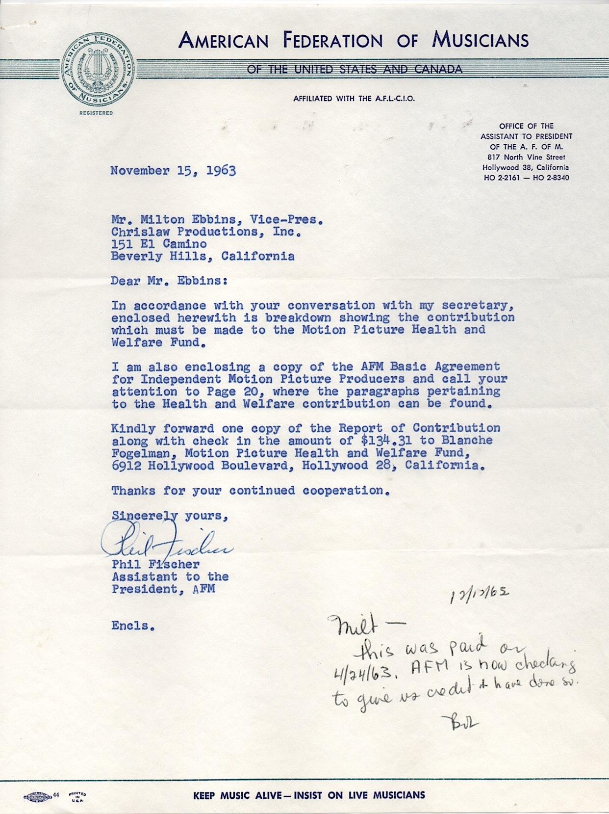 Ebbins Letter